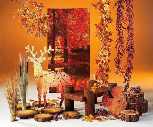 Herfst thema deco ideeën etalage decoratie
