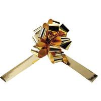 Metallic drawstring bows