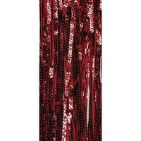 String curtain with sequins