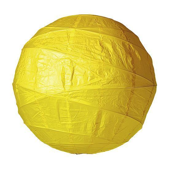 Paper ball, yellow