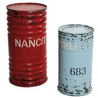 Metal barrels set