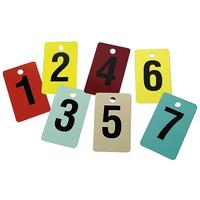 Numbers for changing rooms