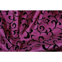 Taffeta with flock print