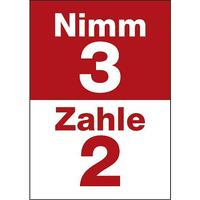 "Poster ""Nimm 3 zahl 2"" (Get 3 for 2)"
