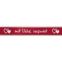 "Poly ribbon ""mit Liebe verpackt"" (wrappe"
