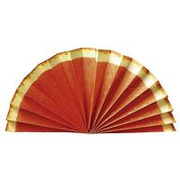 Paper fan fruit motif Orange