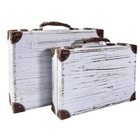 "Suitcases set ""Vintage wood"""