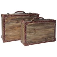 "Suitcases set ""Vintage wood"