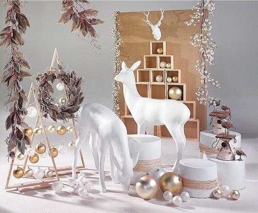 Kerst thema deco ideeën etalage decoratie