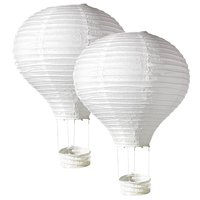 Captive balloon set, white, 40 cm