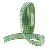 Fabric ribbon chequered