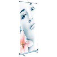 Rollable banner stand