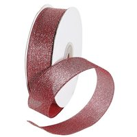 Metallic fabric ribbon