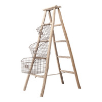 Folding ladder met baskets