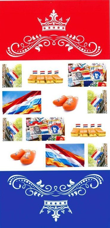 Banner Kingsday Rood | Wit | Blauw