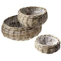 Rattan plant basket set